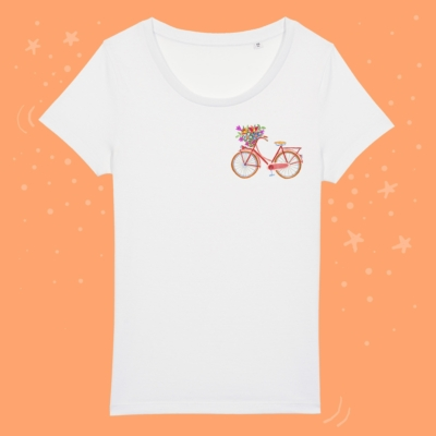 Tricou cu bicicleta