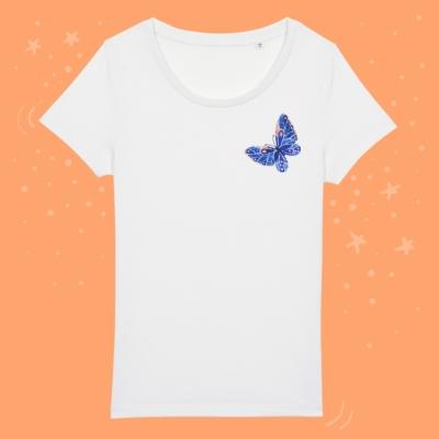 Tricou cu fluture colorat