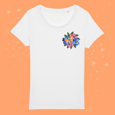 Tricou fluture colorat