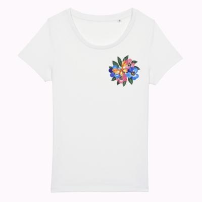 tricou flori colorate