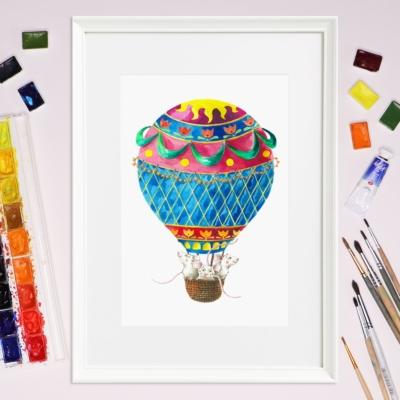 Tablou cu balon zburator